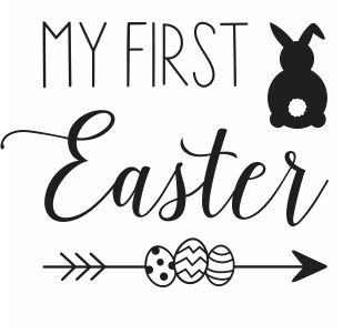 My First Easter vector file