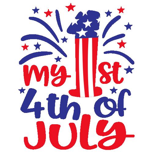 My 1st 4th of July Logo Svg