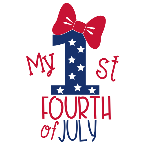 My 1st Fourth Of July Bow Svg