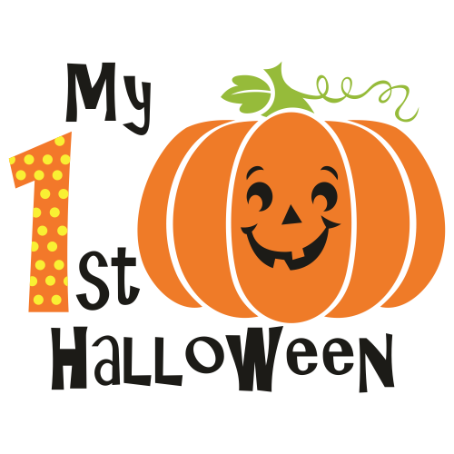 My 1st Halloween With Pumpkin Face Svg