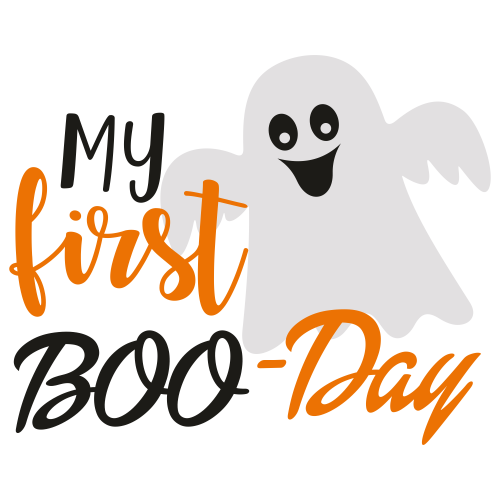 My First Boo Day Halloween Svg