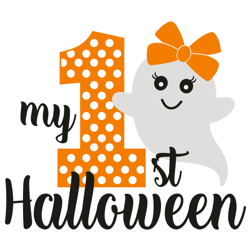 My First Halloween Baby Svg