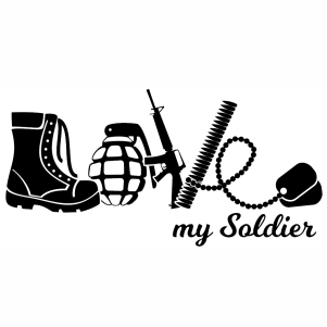 Love My Soldier svg file