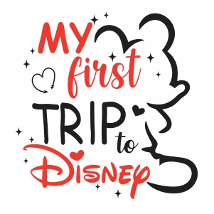 my first trip to disney vector file