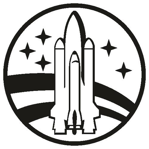 NASA Space Shuttle Vintage Black Svg