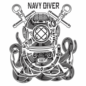 Navy Diver Vector