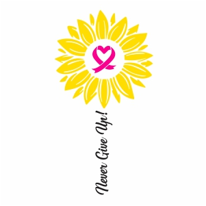 Never Give Up Breast Cancer Vector