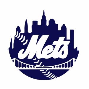 New York Mets Logo Silhouette