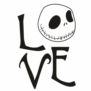 Jack Skellington Love Svg