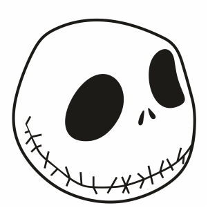 Jack Skellington Face Svg