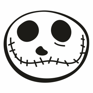 Jack Skellington Head Svg