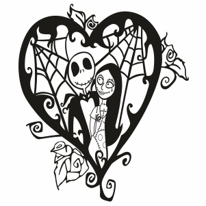 Jack and Sally Svg