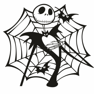 Jack Skellington Spider Web Svg