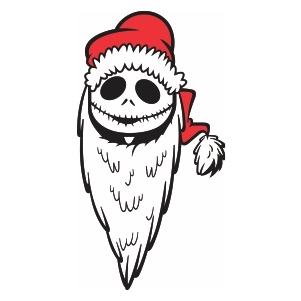 Nightmare Before Christmas santa Svg file