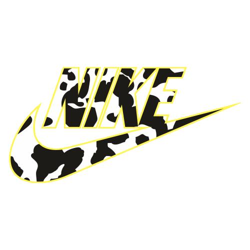 Nike Cow Print Logo Png