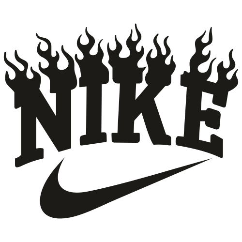 Nike Black Fire Svg