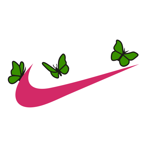 Nike Logo With Butterfly Vector