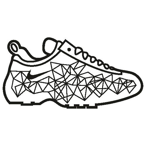 Nike Branded Shoes Svg
