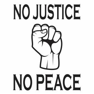 No Justice No Peace Vector