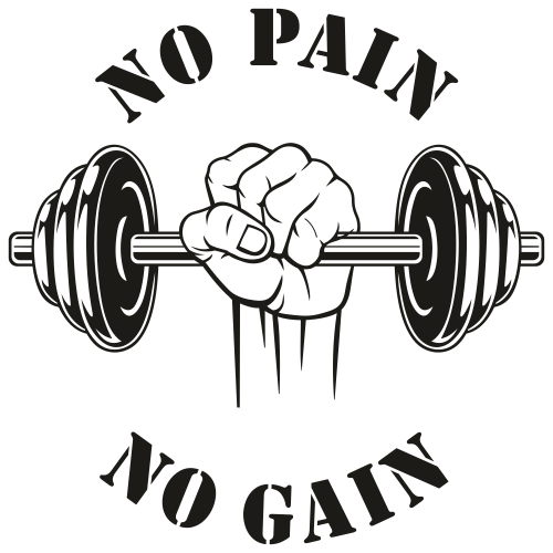 No Pain No Gain Svg