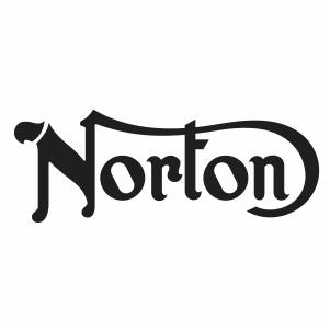 Norton Harley Davidson motorcycle vector