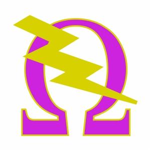 Omega Psi Phi Bolt Svg