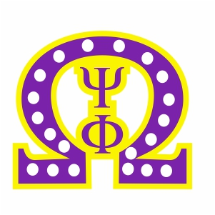 Omega Psi Phi With White Pearls Svg