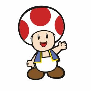 Super Mario Toad Clipart