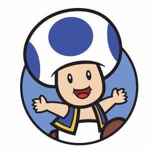 Blue Toad Svg