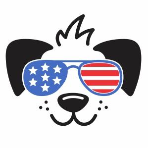 Patriotic Dog Vector