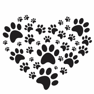 Paw heart vector file