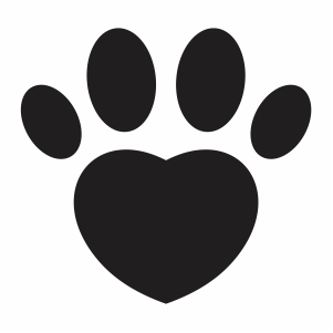 Paw heart shape svg file