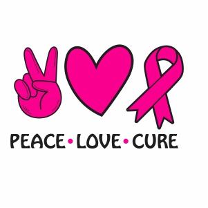 Peace Love Cure Vector