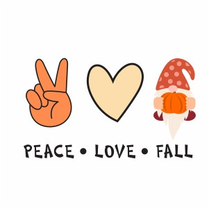 Peace Love Fall Vector
