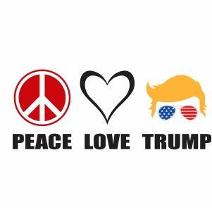 Peace Love Trump Vector