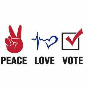 Peace Love Vote Vector