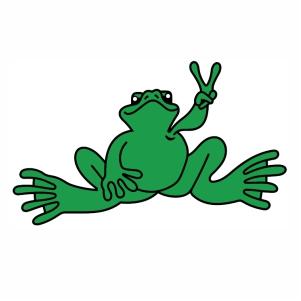 Peace Frogs logo svg
