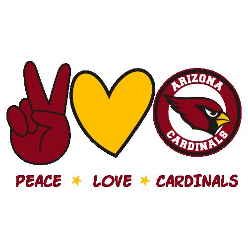 Peace Love Cardinals Svg