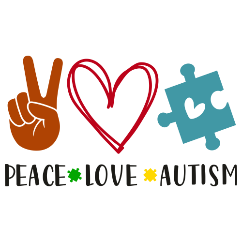 Peace Love Autism Svg