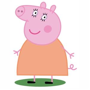 Fat Peppa Pig Vector