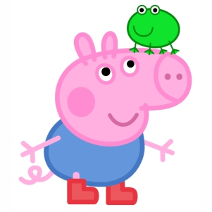 Peppa Pig And Frog svg cut file