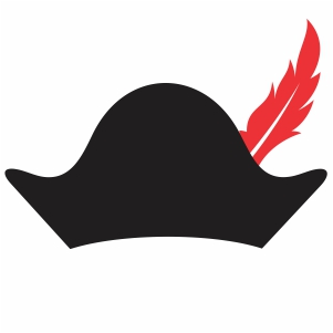 piracy hat with feather svg cut