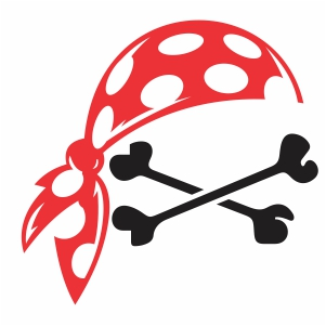 Pirate Bandana With Crossbones Svg