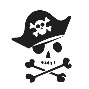 Pirate Skull And Crossbones Svg