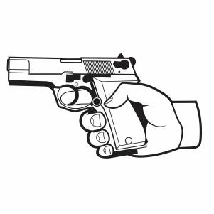 Hand Holding Gun vector