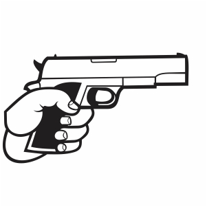 Hand With A Gun Svg