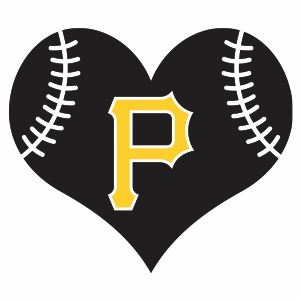 Pittsbug Pirates Heart Logo Svg