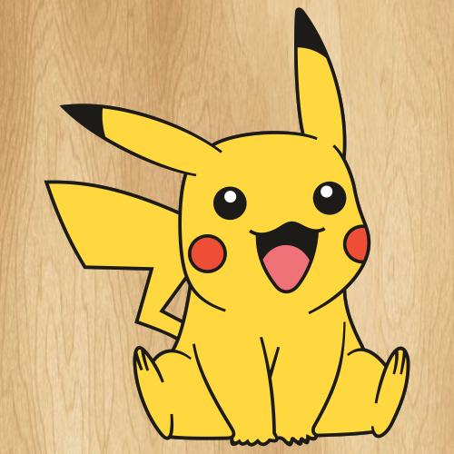 Pokemon Happy Pikachu Svg