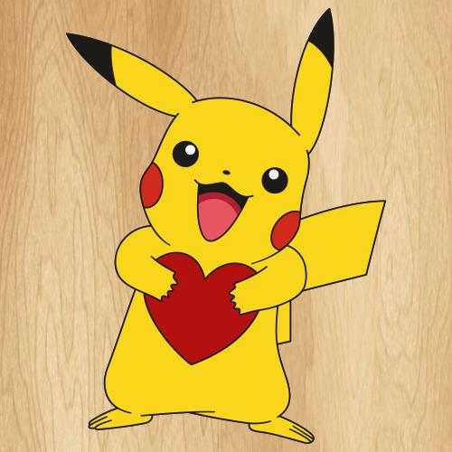 Pikachu Heart Svg
