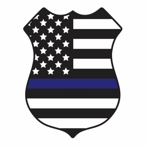 Police Badge American Flag Svg